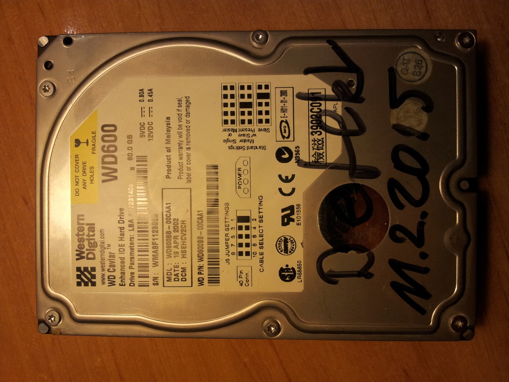 2015-02-11 Defekt WD600 Western Digital