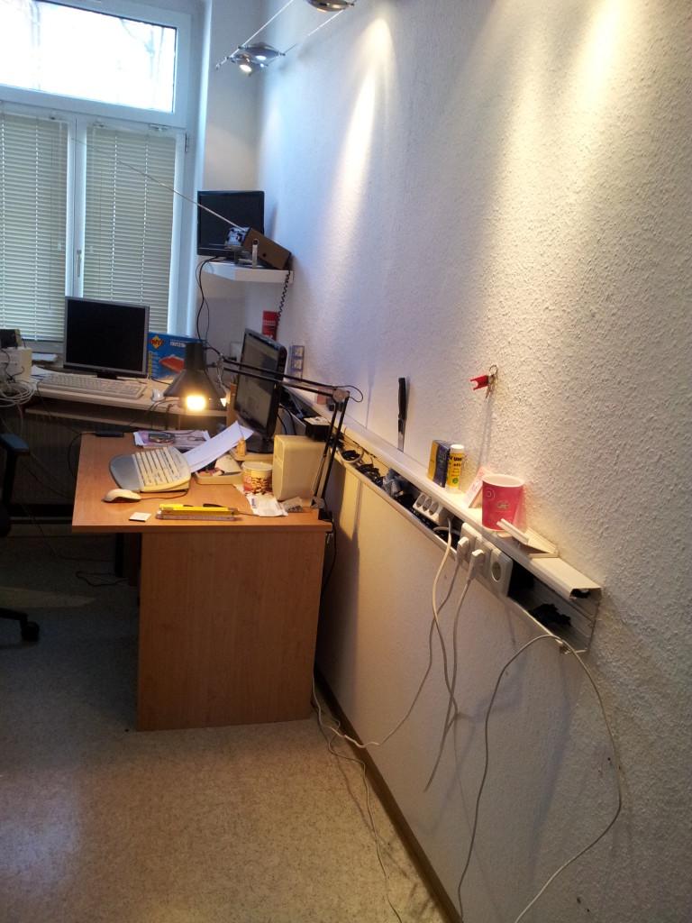 2015-02-14 Altes Büro wird renoviert.