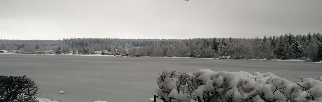 Wintermärchen am Greifenbachstauweiher im Erzgebirge