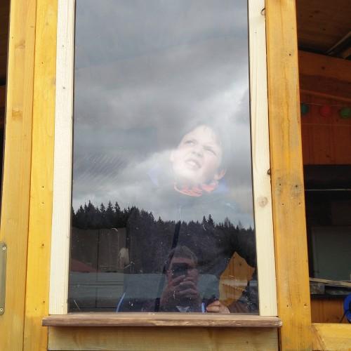 Ausbaustufe Fenster an der Hütte